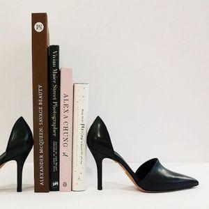 Vince. Women's Claire d'Orsay Leather Black